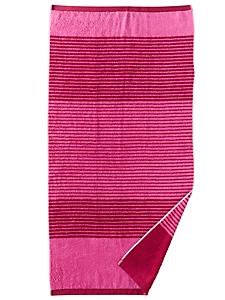 helline home - Serviette éponge en coton avec motif à rayures tendance