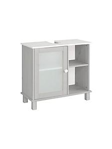 helline home - Petit meuble sous vasque, épicéa, avec portes en verre