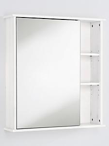 helline home - Meuble de rangement en bois, porte en miroir et casiers