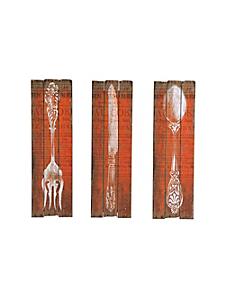 helline home - Décoration murale couverts, 3 pièces