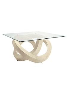 helline home - Table basse design en marbre avec son plateau de verre