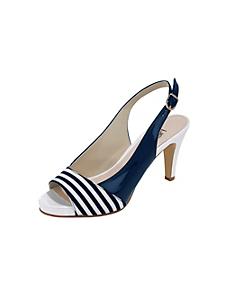 helline - Sandalettes à talons aiguilles, motif à rayures