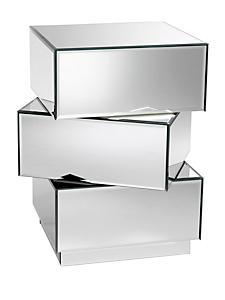 helline - Commode chic et design à tiroirs miroirs orientables