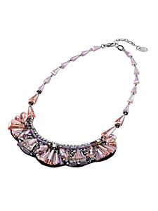 helline - Collier plastron raffiné orné de pierres et de perles