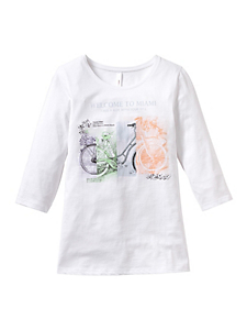 Sheego Casual - sheego Casual : T-shirt à manches 3/4