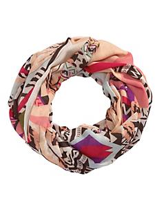helline - Foulard tube imprimé multicolore tendance pour femme