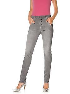 MAC - Jean uni moulant tendance avec coutures spécifiques