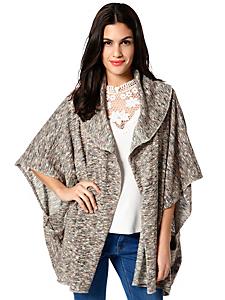 helline - Gilet femme en tricot fin original, coupe asymétrique