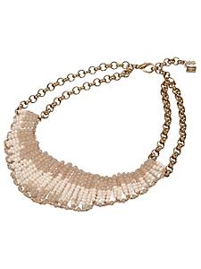 helline - Collier élégant ras du cou en métal et petites perles