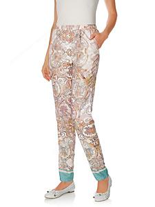 Rick Cardona - Pantalon imprimé à motif cachemire, taille élastique