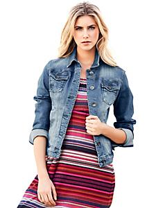 B.C. Best Connections - Veste en jean courte à boutons pour femme