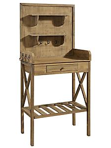 helline - Table de jardinage traité en bois à patères et tiroir