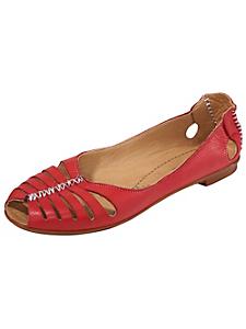 Andrea Conti - Ballerines confort cuir type sandalettes avec coutures