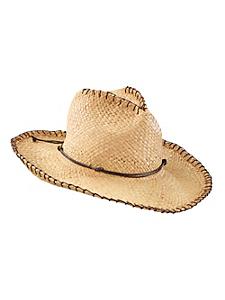 Seeberger - Chapeau de cowboy femme à bord surpiqués, ruban déco