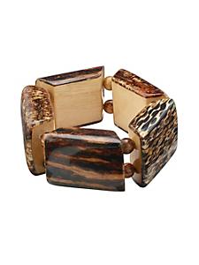 helline - Bracelet en bois de style ethnique, taille élastiquée