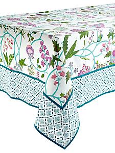 helline home - Nappe de table opaque en coton bio et motif fleuri