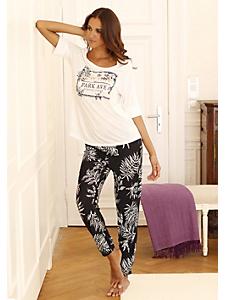 Lascana - Pyjama tendance femme avec haut à message