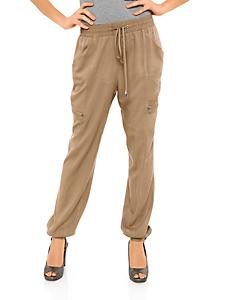 B.C. Best Connections - Pantalon fluide à poches, taille et bas élastiqués