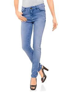 B.C. Best Connections - Jean femme coupe skinny avec 5 poches et effet délavé