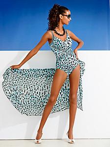Class International Fx - Maillot de bain femme une pièce drapé, imprimé tendance