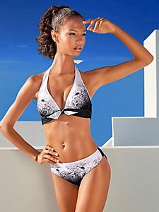 Class International Fx - Bikini tour de cou à imprimé floral et noeud décoratif