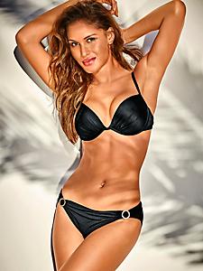 helline - Bikini push-up, drapé et brillant à armatures