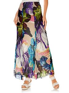 Ashley Brooke - Jupe longue fluide au style froissé, imprimé fleuri