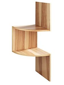 helline home - Etagère d'angle en bois dans un style sobre et moderne