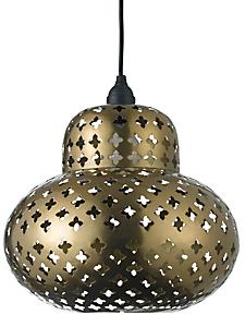 helline home - Lampe de table orientale en métal ajouré
