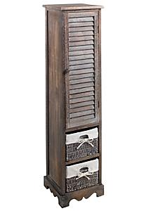 helline home - Meuble haut en bois avec porte et panier