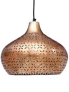 helline home - Lustre suspension en métal ajouré, forme ample à motifs