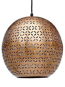 helline home - Lustre suspension en métal ajouré, forme ronde moderne