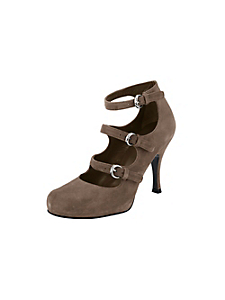 helline - Escarpins en cuir velours et brides tendance