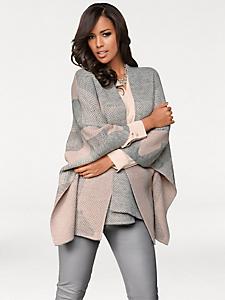 Patrizia Dini - Veste ample en tricot fin chiné, manches chauve-souris
