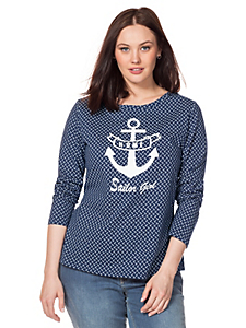 Sheego Casual - sheego Casual : T-shirt à manches longues