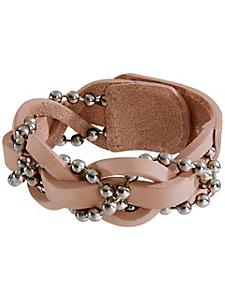 helline - Bracelet original en cuir et perles tressées
