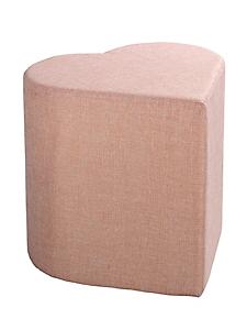 helline home - Tabouret pouf en tissu uni, forme coeur