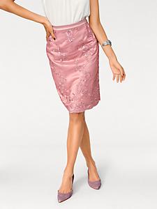 Ashley Brooke - Jupe mi-longue élégante avec broderies en dentelle
