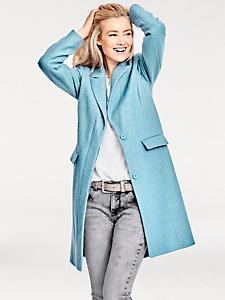 B.C. Best Connections - Manteau long en laine style caban pour femme
