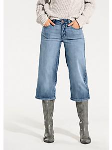 B.C. Best Connections - Jupe culotte tendance en jean confortable uni
