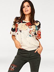 Desigual - T-shirt femme Desigual tendance en tissu fluide imprimé