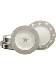 CREATABLE - Service de table CreaTable en porcelaine, 12 pièces, »étoiles«