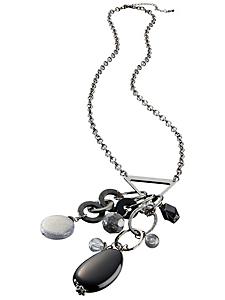 helline - Sautoir métal avec pendentif à pampilles
