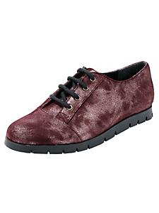 helline - Chaussures en cuir métallisé à lacets