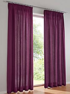 helline home - Rideau léger en textile uni semi-transparent