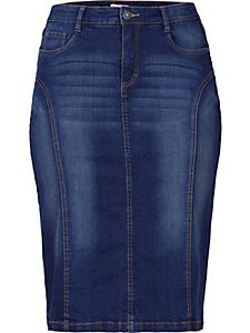 SHEEGO DENIM - Jupe en jean avec coutures transversales Sheego Denim