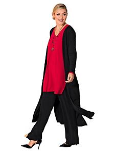 Sheego Style - Pantalon stretch large, à enfiler