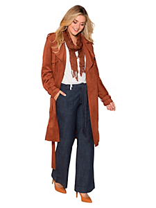 Sheego Style - Manteau sheego Style en synthétique aspect peau velours
