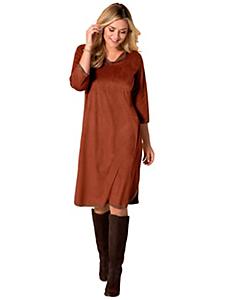 Sheego Style - Robe tendance à manches 3/4, effet peau