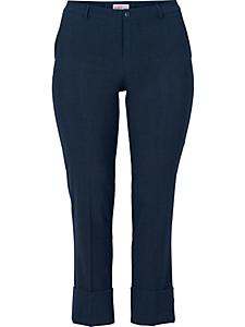 Sheego Class - Pantalon droit extensible avec revers Sheego Class